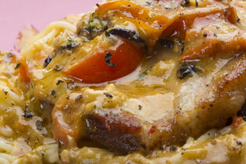 Pasta with pork