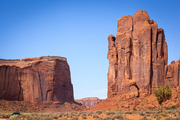 The Hand of the God and Thunderbird Mesa, Monument Valley
