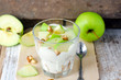 Dessert biscuits , apples and cream