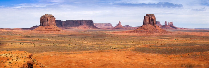 Classic Panorama of American West, Monument Valley