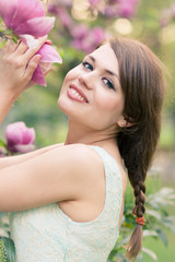 Spring portrait of a beautiful woman