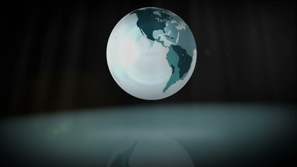 Animation of a spinning globe