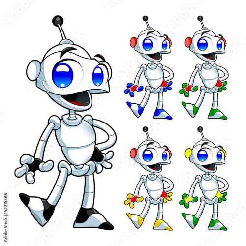 Tuinposter Robots Funny robot.