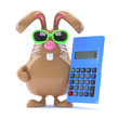 Chocolate bunny crunches the numbers