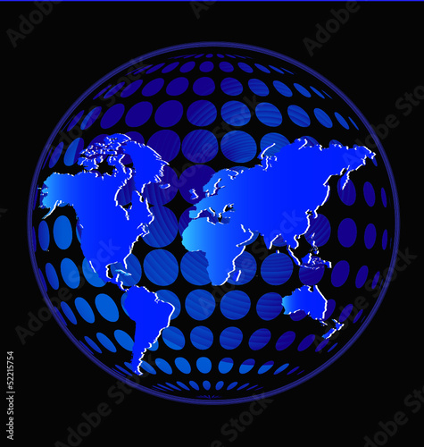 Earth in glowing blue color vector