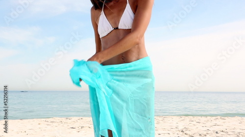 Attractive woman wearing a sarong