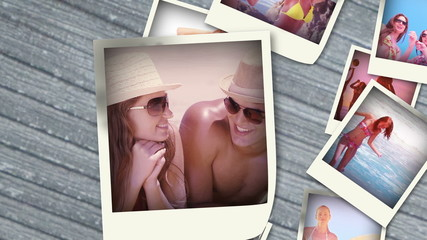Various videos of summer situations into instant photos