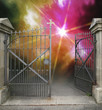 wrought-iron gate