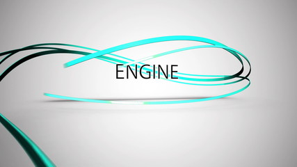 Montage of seo terms appearing and linked by blue swirling lines