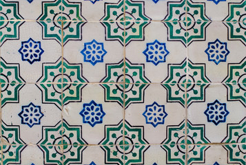 Vintage spanish style ceramic tiles