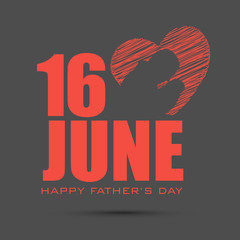 Happy Fathers Day concept for flyer, banner or poster with imag