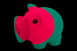 piggy rich bank in colors national flag of bangladesh   for savi