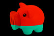 piggy rich bank in colors national flag of belarus   for saving