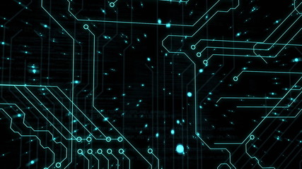 Animation of a circuit board