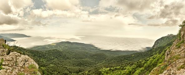 Panorama of Mountain Landscape from Crimea