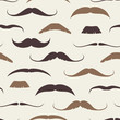 Vintage Seamless Pattern with Mustaches