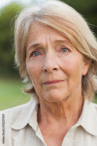 Unhappy older woman