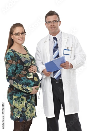 Portrait of doctor and pregnant patient