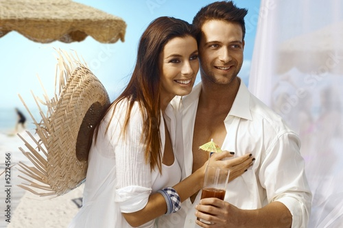 Young couple on summer holiday