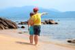 Les enfants sur la plage en Corse