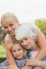 Three generations of women portrait