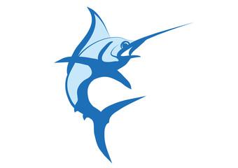 Marlin vector, swordfish illustration