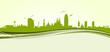 Skyline Barcelona green