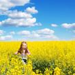 cute little girl in a field