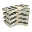 A few packs of dollar bills