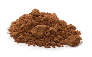 Pile of brown raw clay
