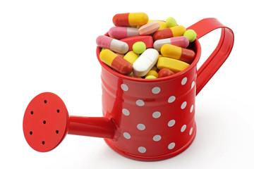 tabletten in giesskanne