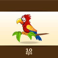 Parrot. Vector illustration