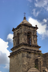 Old Texas Spanish Mission Bell Tower
