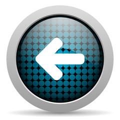 arrow left glossy icon