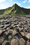 Giant's Causeway stones and mountain