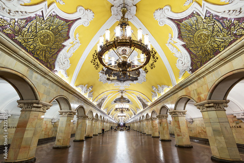 Fototapeta The metro station Komsomolskaya in Moscow, Russia