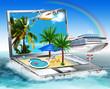 canvas print picture - Reif für die Insel