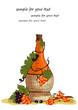 Sanddorn Wein Illustration