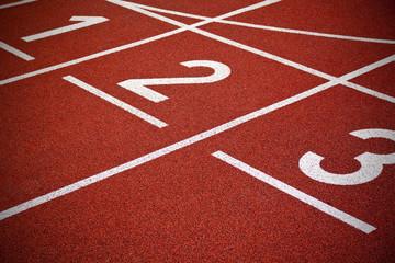 Athletics Start track lanes