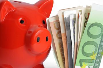 sparschwein mit euro