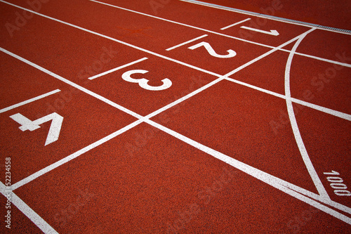 Athletics Start track lanes