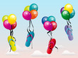 Ballons Tongs