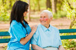 Caring Nurse with Kind Lady