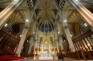 Baldachin and Altar of St. Patrick's Cathedral,New York City