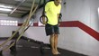 Muscle up to hold crossfit exercise