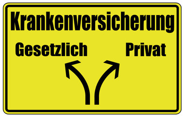 Krankenversicherung Privat Schild  #130511-svg04