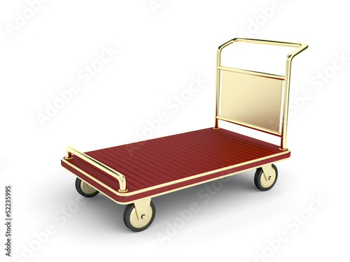 Golden baggage cart