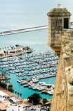 Seaport from Santa Barbara castle, Alicante, Spain