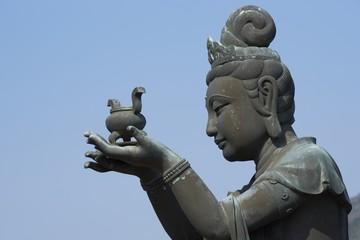 Buddha statue at Po Lin Monastery, Hong Kong