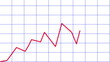Line chart ascending: animated line graph